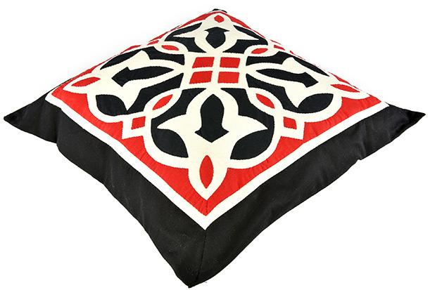 Fully handmade Throw Pillow-Red 50*50 cm_2