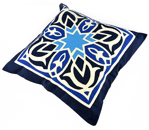 Fully handmade Throw Pillow-Blue 50*50 cm_3