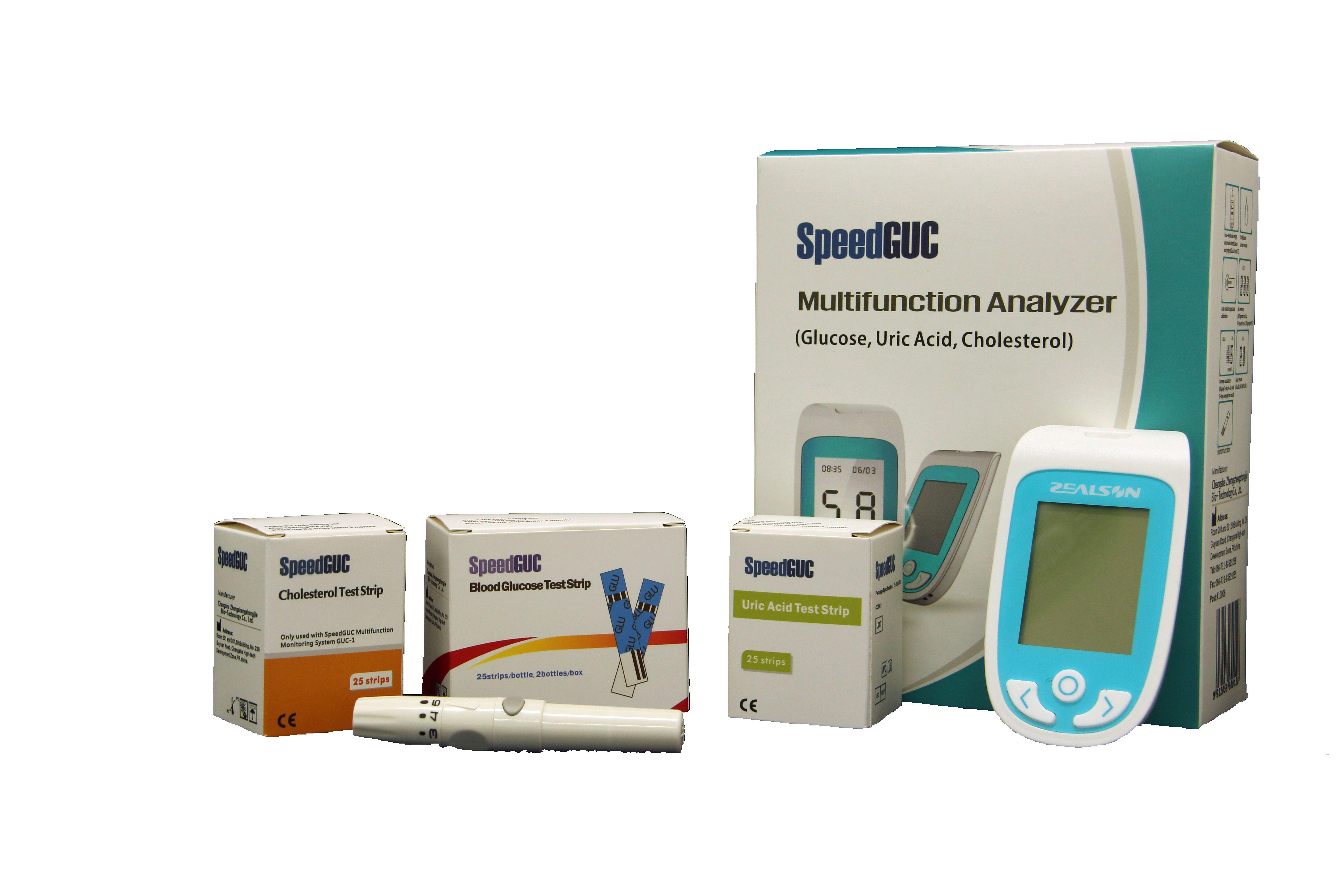 Speedguc multifunction analyzer (glucose,uric acid, cholesterol )
