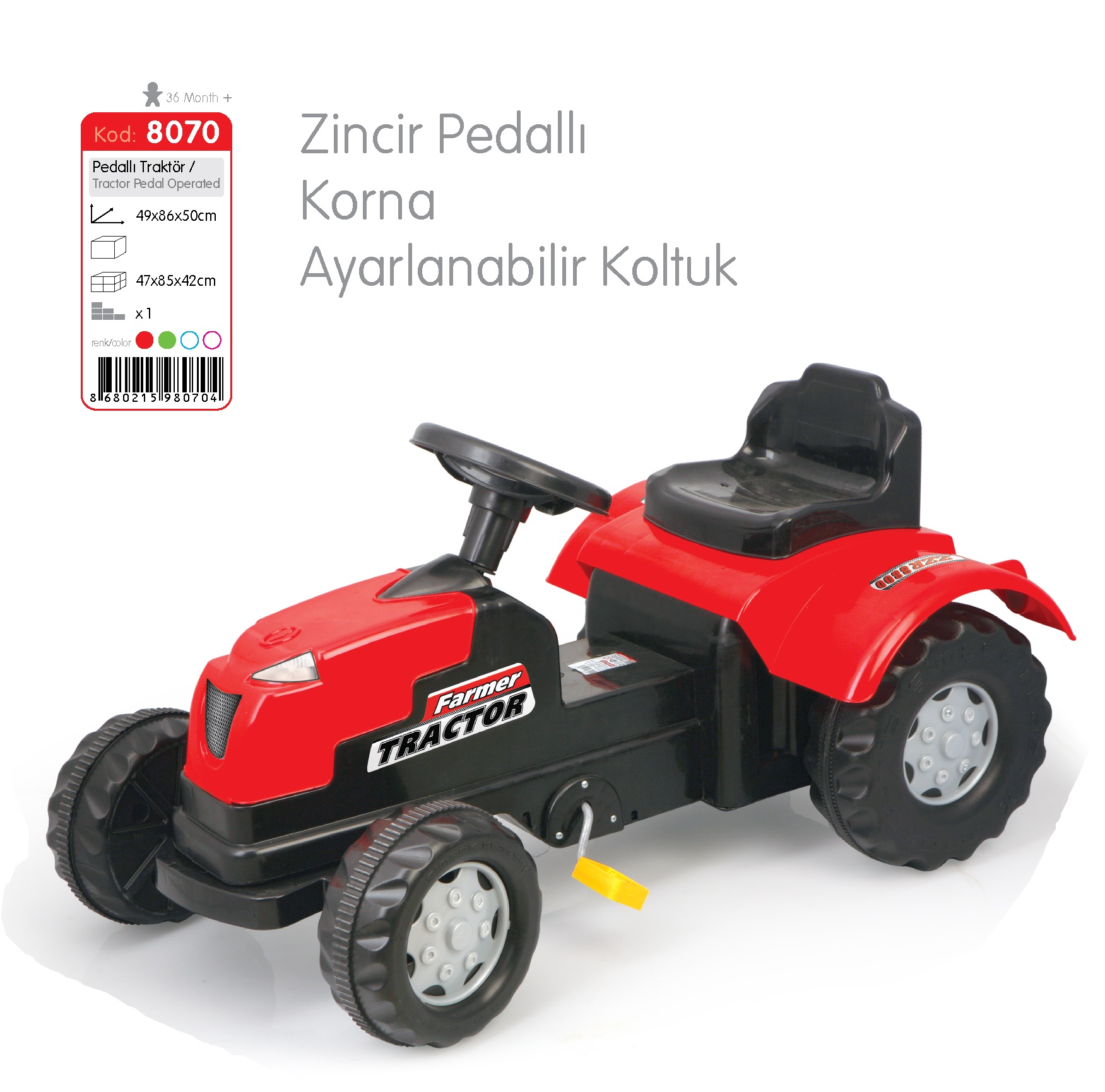 8070 pedal tractor