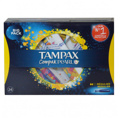 Tampax compak pearl 24 pc. regulier