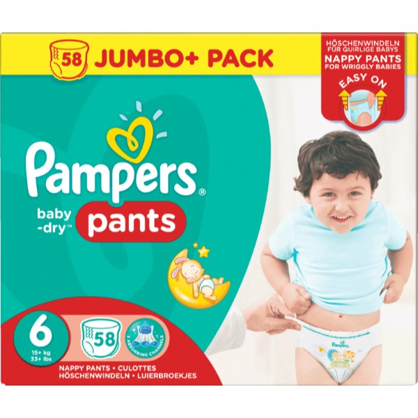 Pampers pants baby dry 58pcssize 6 [nl/f/d/uk]