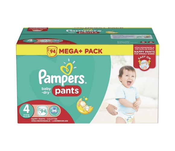 Pampers pants baby dry 94pcssize 4 [nl/f/d/uk]