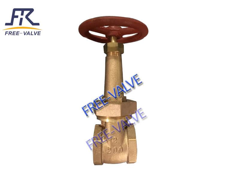 Bronze thread gate valve with rising stem,Female NPT Threaded Bronze Gate Valve_2