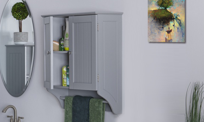 Fd-bc-595449 - ashland 2-door wall cabinet in white or gray
