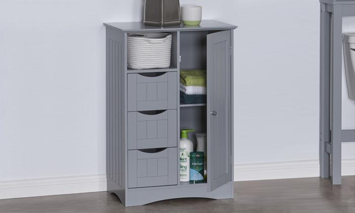 Fd-bc-217226 - ashland 1-door, 3-drawer floor cabinet