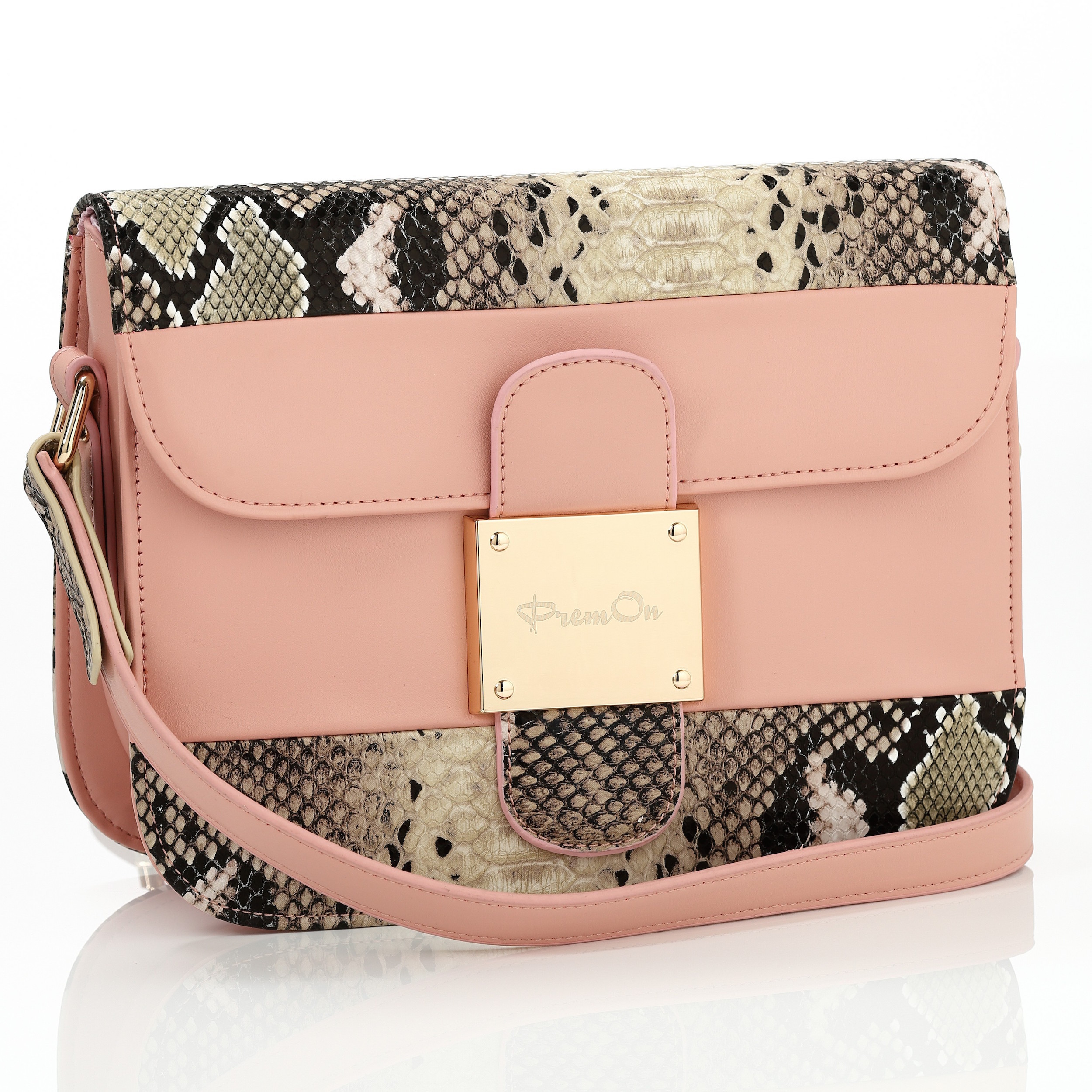 Sleek Pink Messenger Bag_2