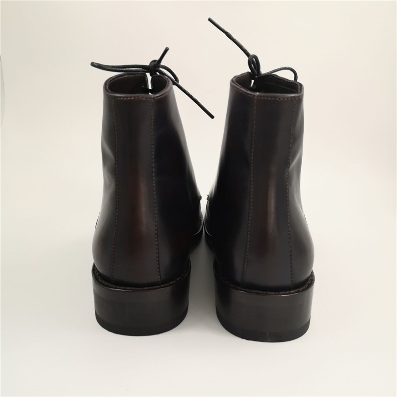 Handmade men goodyear boots made of full genuine leather_4