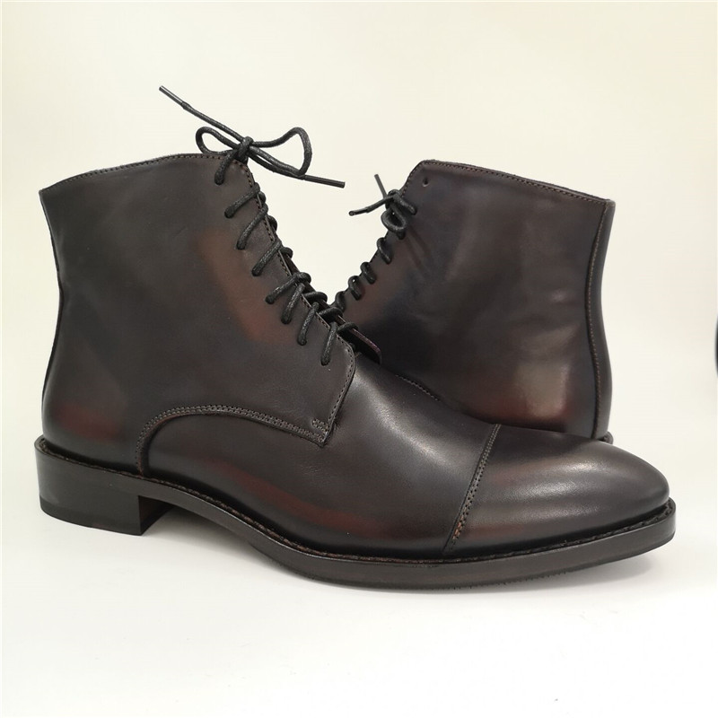 Handmade men goodyear boots made of full genuine leather_3
