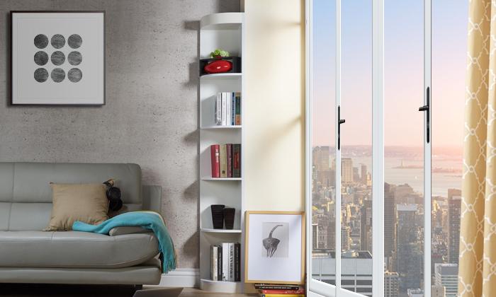 Corner 5-shelf display stand