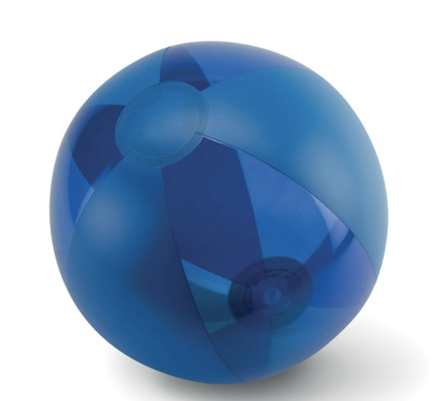 Inflatable Beach Ball with Transparent and Solid Panels