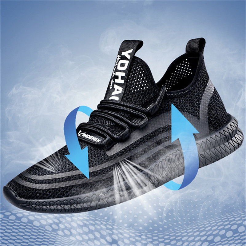 Fashion Flyknit Mesh Hollow Breathable Soft Men's Height Increasing Elevator Sport Shoes Sneaker Get Taller 2.16 inches_4