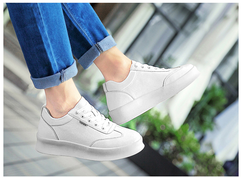 Men height increasing elevator casual leather shoes_4