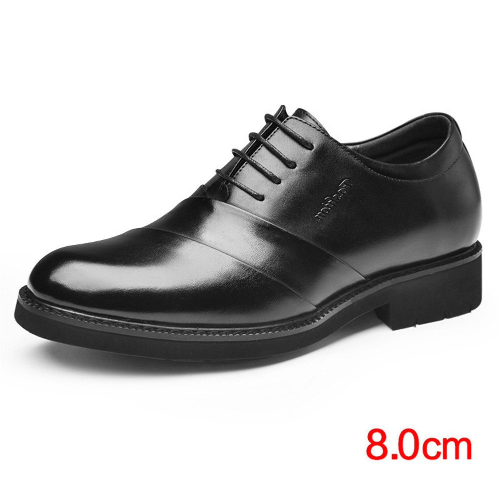 Men oxfords leather shoes height increasing elevator dress shoes for wedding
