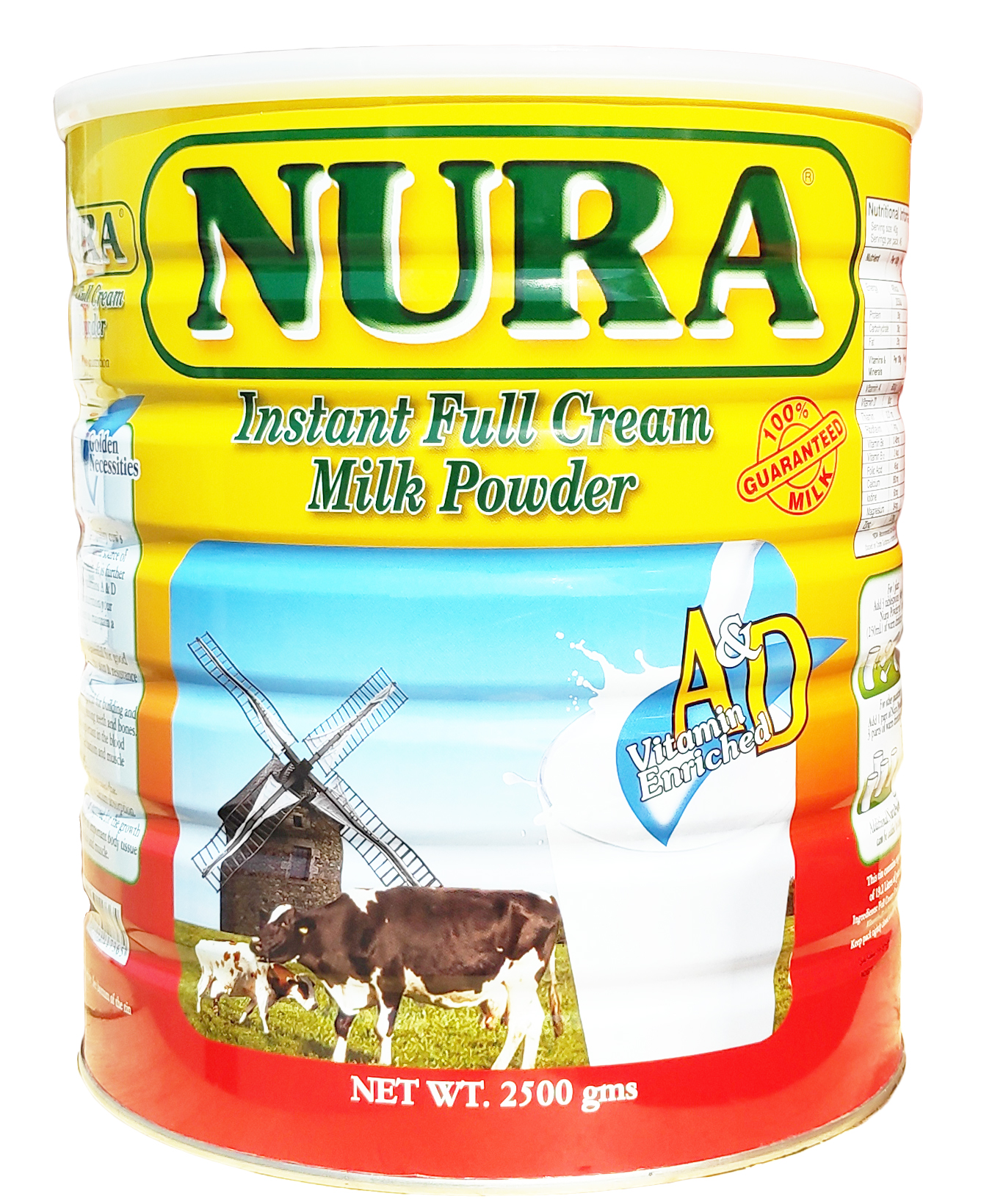 Nura instant full cream Milk Powder 2500 gm_3