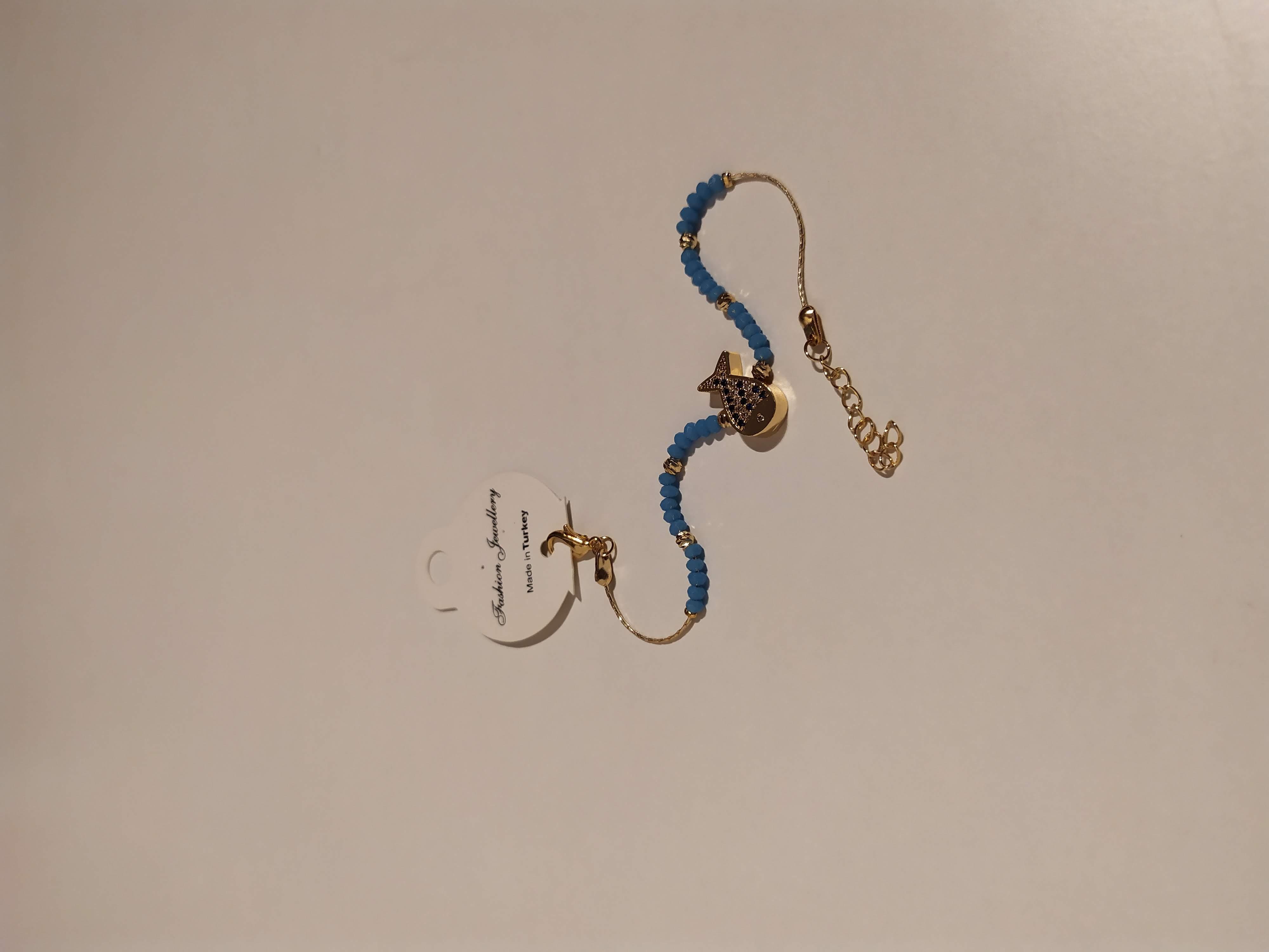 حجر الزيركون ، مطلي بالذهب ، غير مسبوق ، سوار أسود / Zircon Stone, Gold Plated, Non Allergic, Bracelet_2