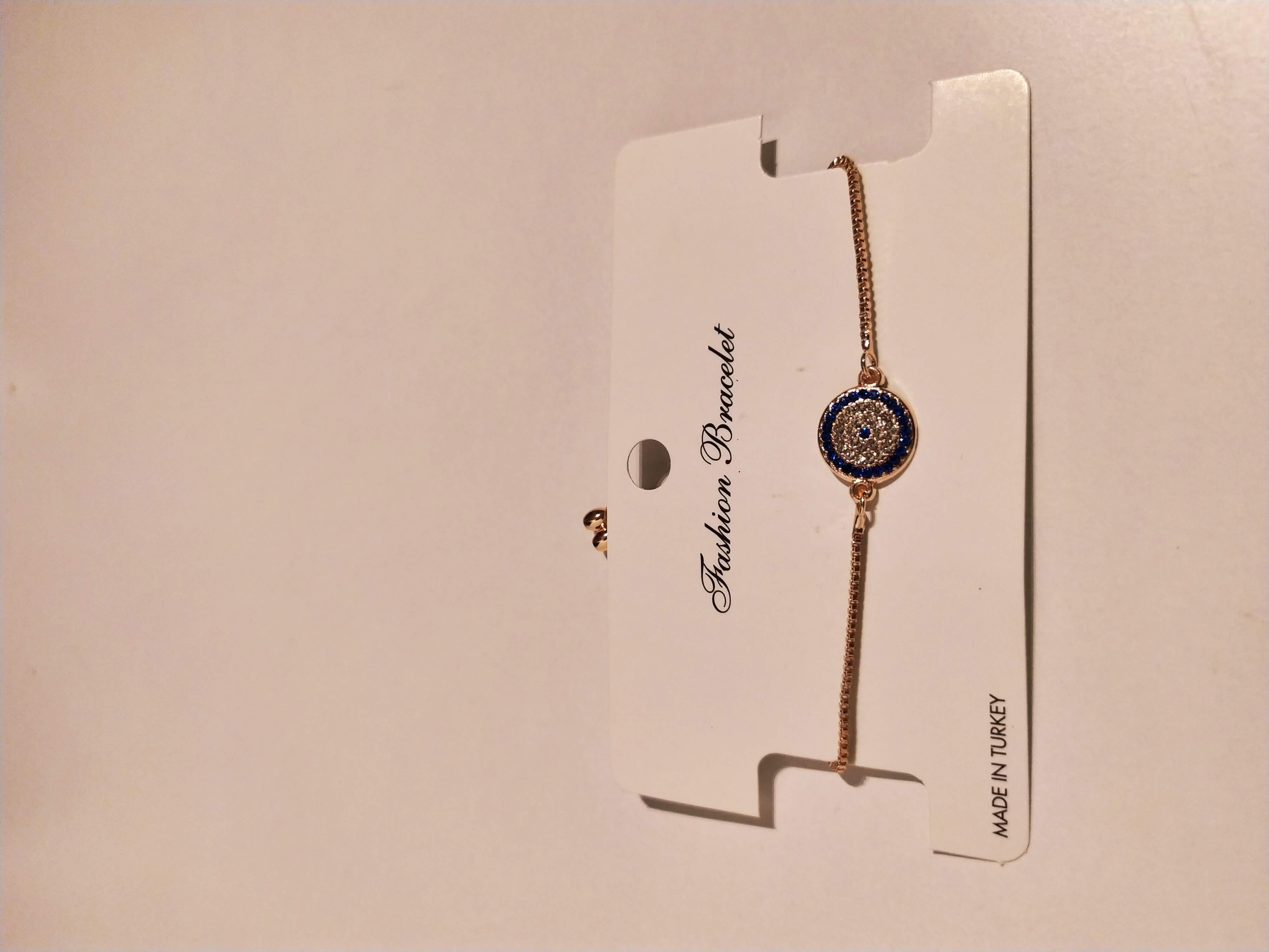 حجر الزيركون ، مطلي بالذهب ، غير مسبوق ، سوار أسود / zircon stone, gold plated, non allergic, bracelet