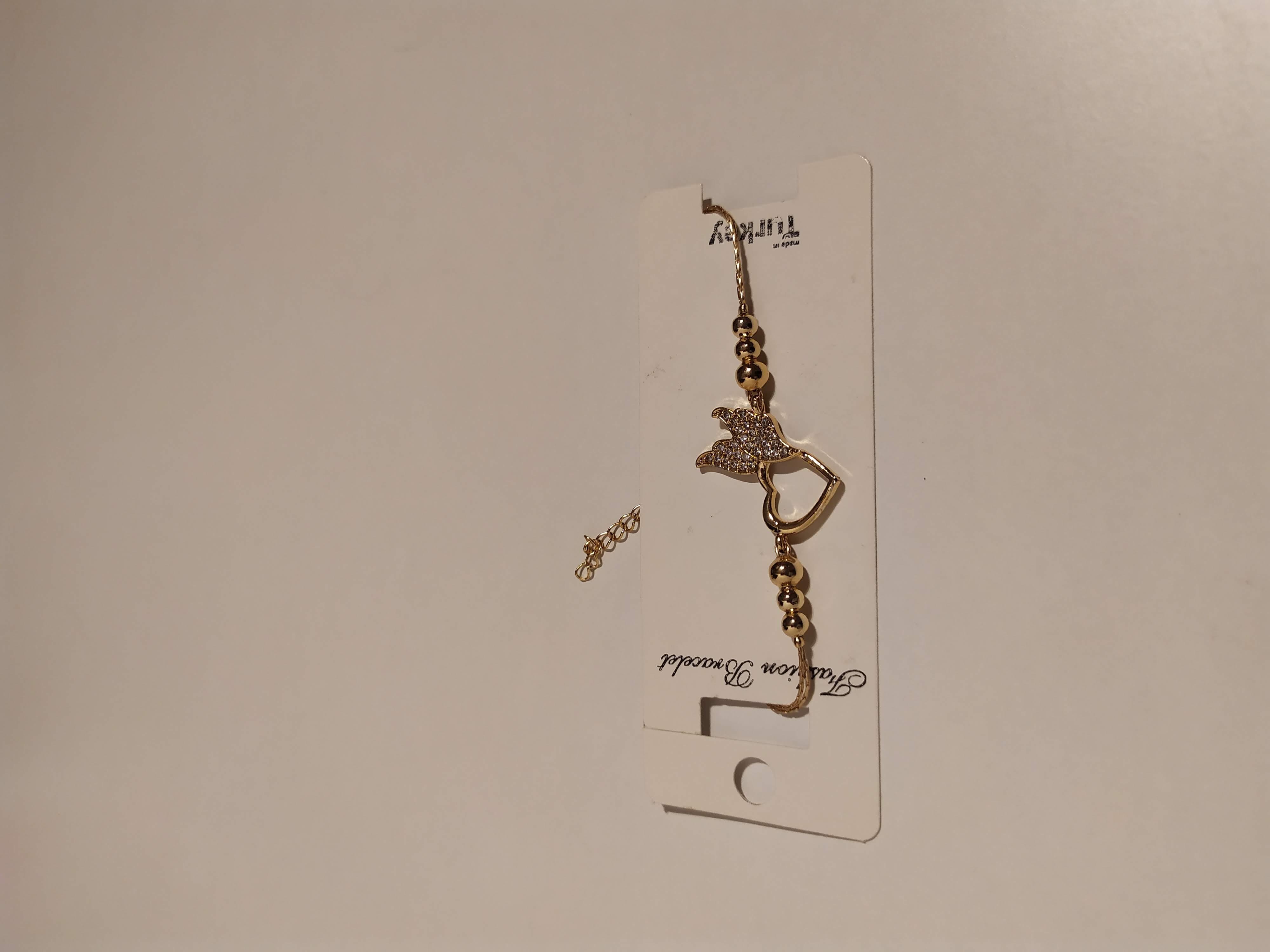 حجر الزيركون ، مطلي بالذهب ، غير مسبوق ، سوار أسود / Zircon Stone, Gold Plated, Non Allergic, Bracelet_9