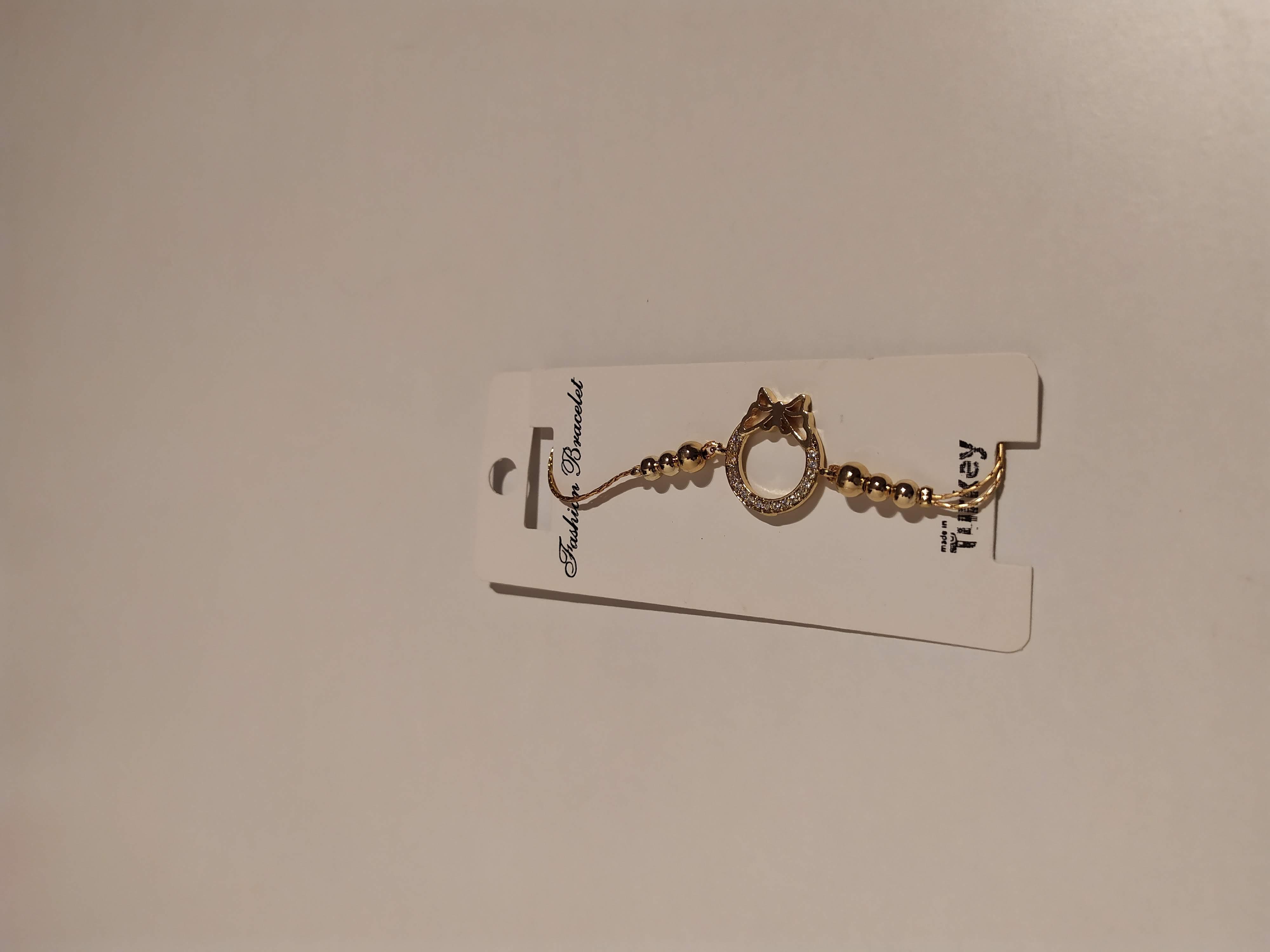 حجر الزيركون ، مطلي بالذهب ، غير مسبوق ، سوار أسود / Zircon Stone, Gold Plated, Non Allergic, Bracelet_4