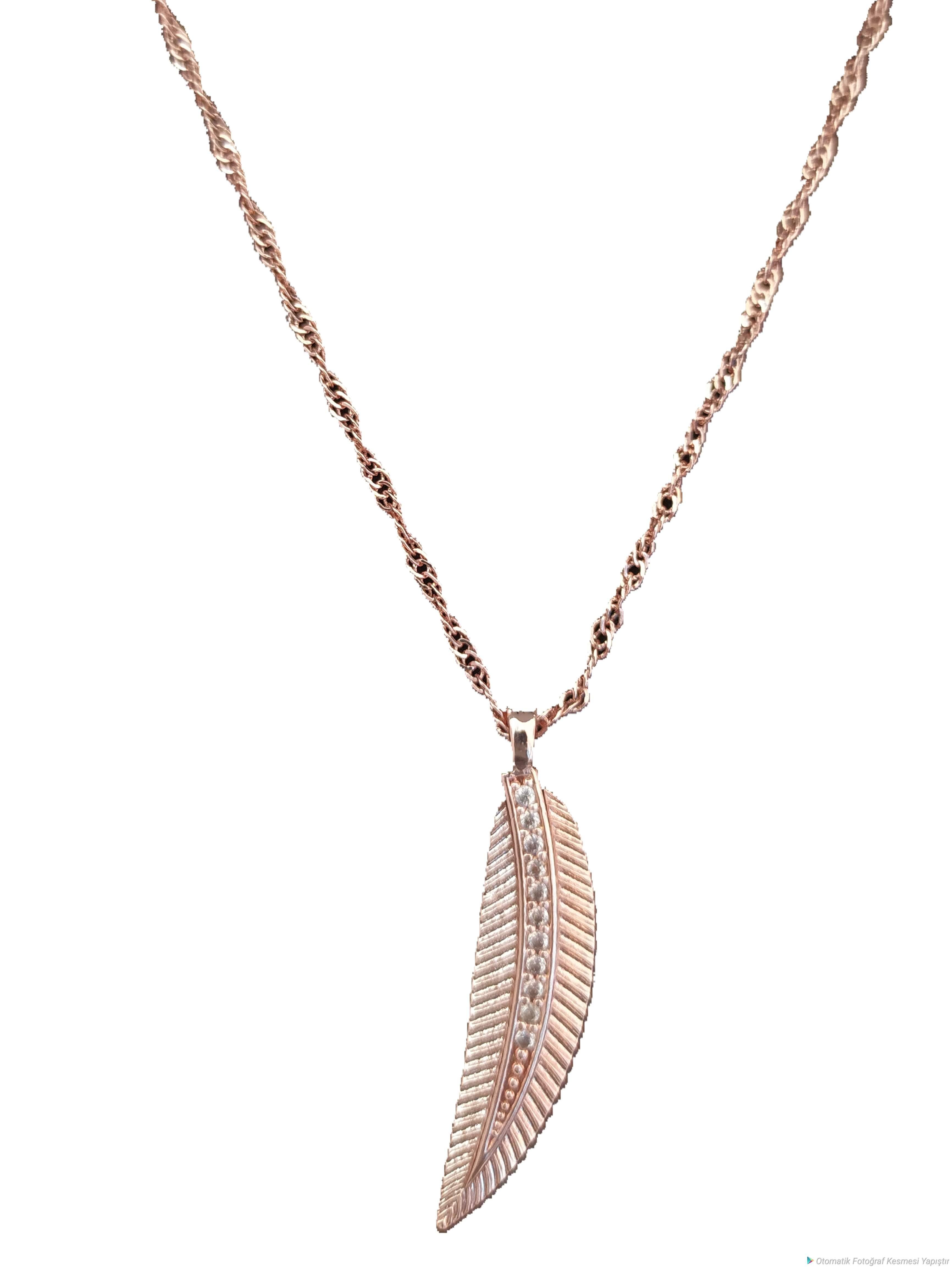 قلادة مطلية بالذهب مع الزركون الممتاز. لا يسبب الحساسية ، لا تغميق / Gold plated necklace with premium zircon. does not cause allergies, does not darken_2