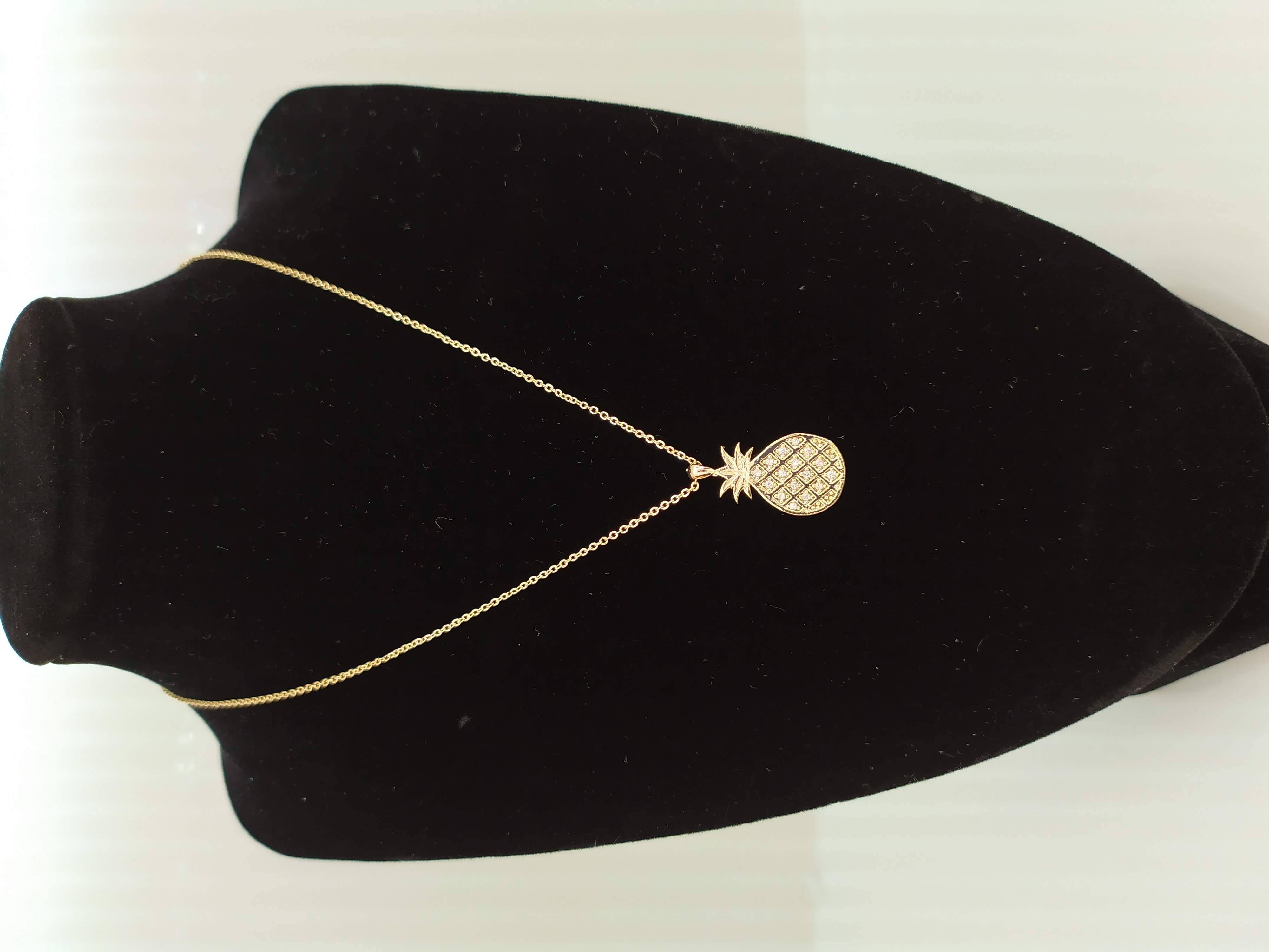 قلادة مطلية بالذهب مع الزركون الممتاز. لا يسبب الحساسية ، لا تغميق / Gold plated necklace with premium zircon. does not cause allergies, does not darken_17