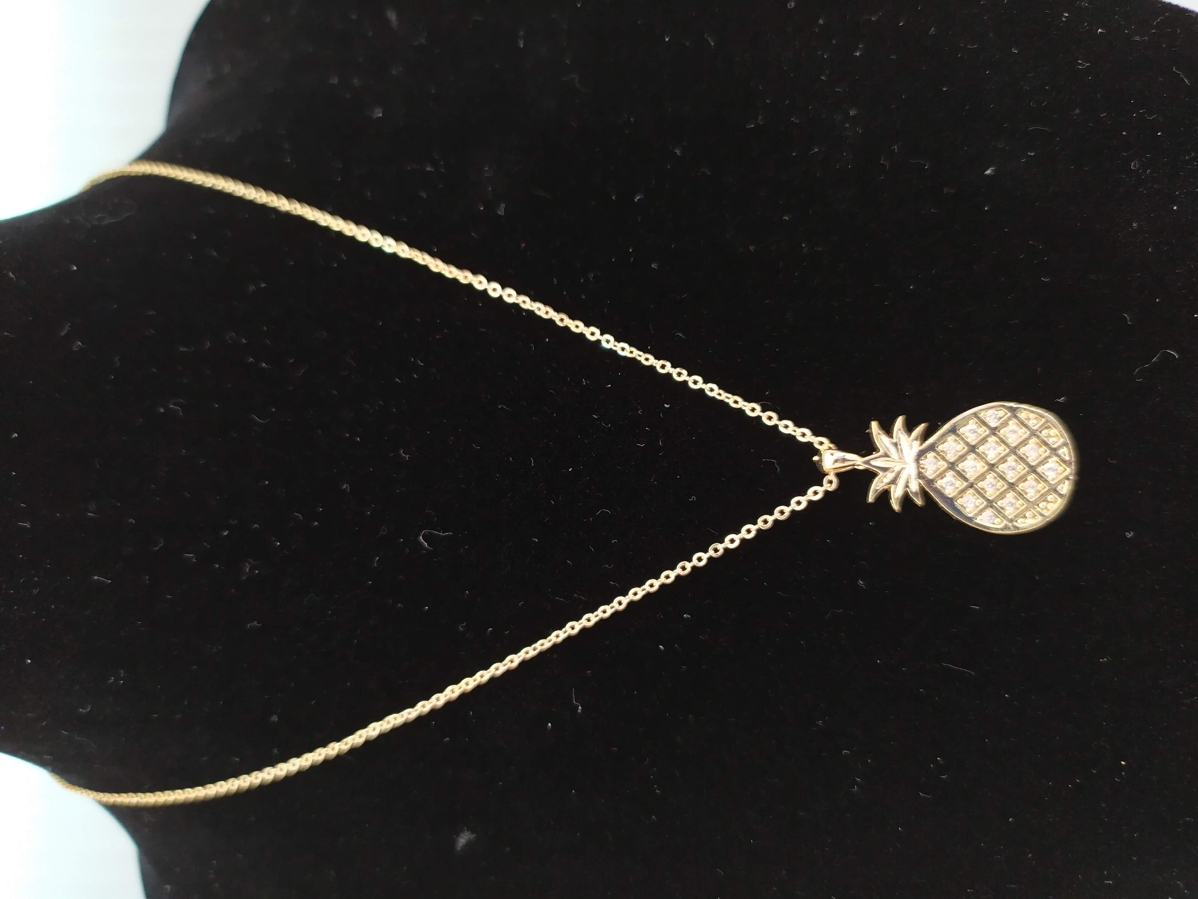قلادة مطلية بالذهب مع الزركون الممتاز. لا يسبب الحساسية ، لا تغميق / Gold plated necklace with premium zircon. does not cause allergies, does not darken_26