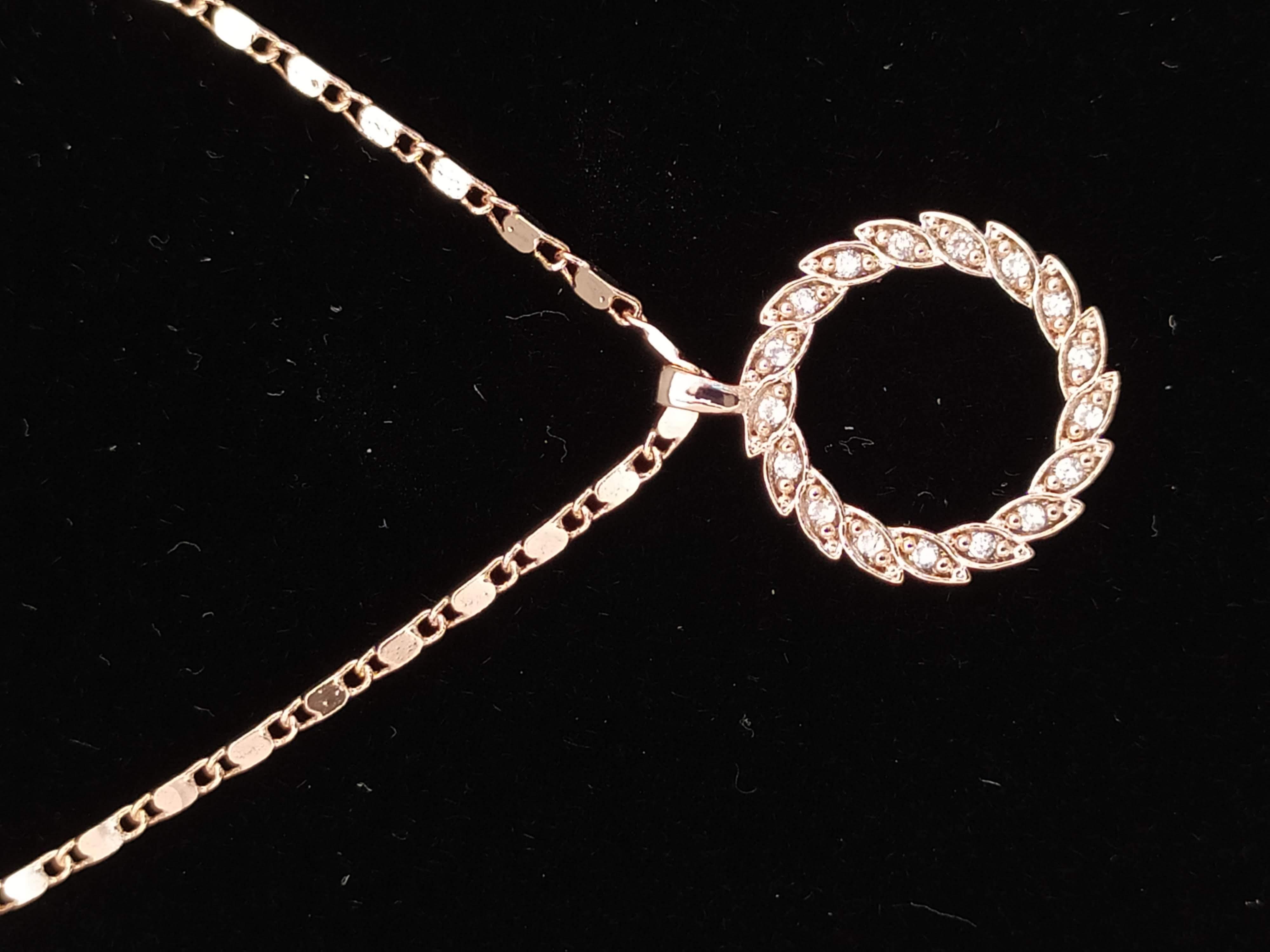 قلادة مطلية بالذهب مع الزركون الممتاز. لا يسبب الحساسية ، لا تغميق / Gold plated necklace with premium zircon. does not cause allergies, does not darken_23