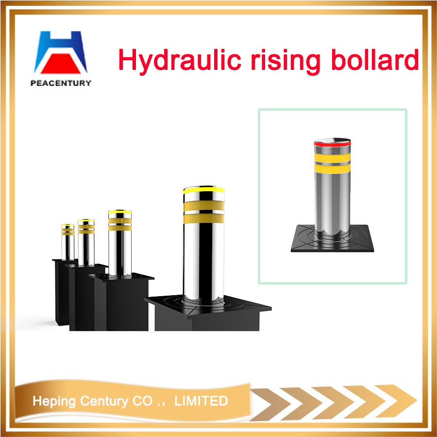 Hot sale removable traffic manual type bollrad reflective flexible rising bollard hydraulic rising bollard