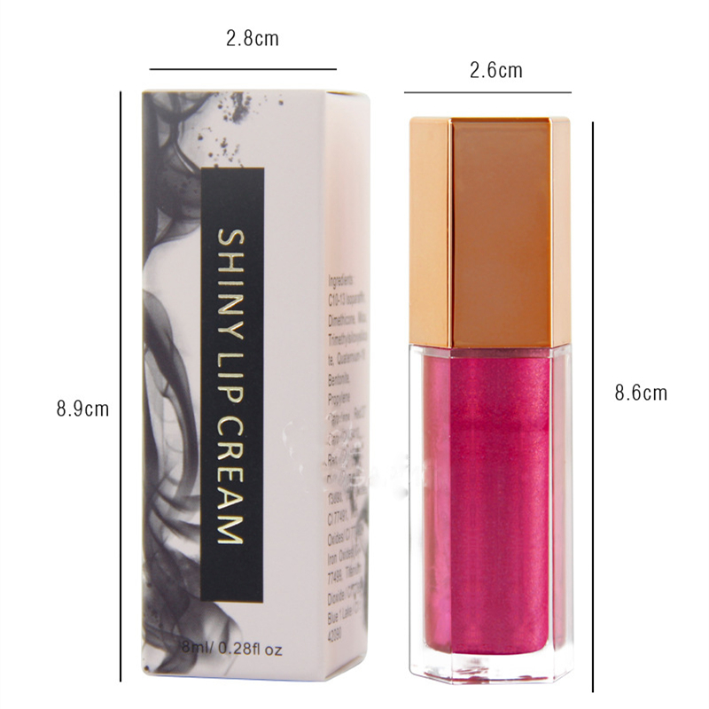 MS-LPG-5-1 wholesale unbranded makeup lip gloss tube long lasting liquid lipstick low MOQ private label creamy lip gloss_6