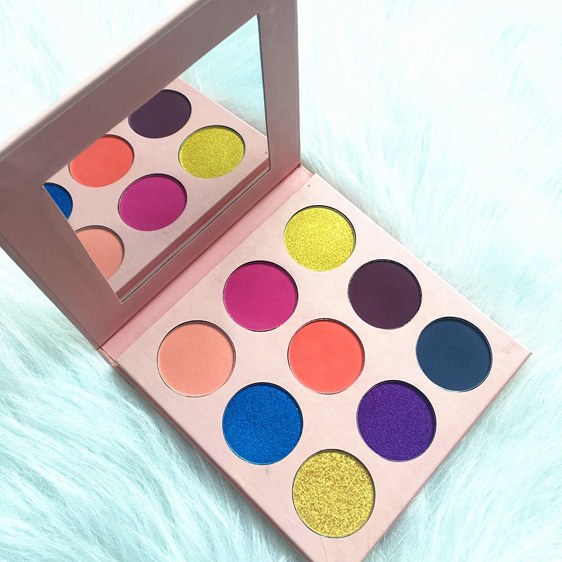 Ms-ep-9-4 5 matte colors and 4 shimmer colors eyshadow palette