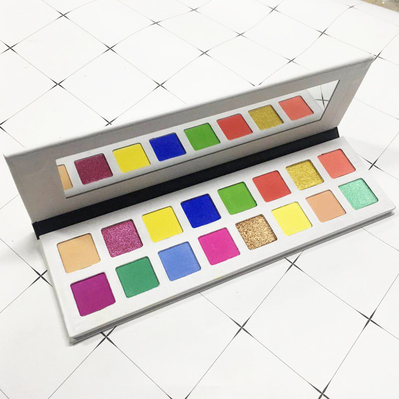 Ms-ep-16 12 matte and 4 shimmer colors eyeshadow palette