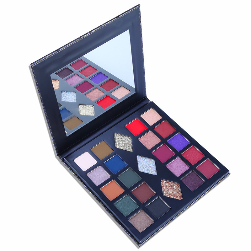 Ms-ep-23 12 matte and 3 gilitter colors, and 8 shimmer colors eyeshadow palette
