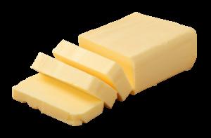 Blended butter in blocks