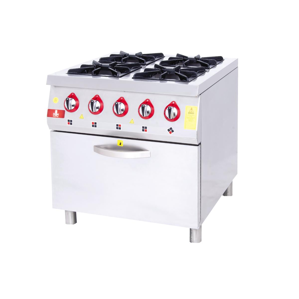 Range with oven - 4 burners - 80x80 lpg