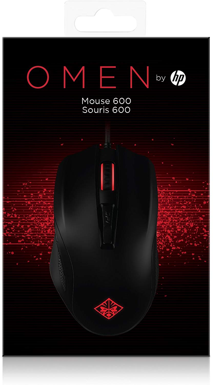 OMEN by HP Wired USB Gaming Mouse 600 (Black/Red)_3