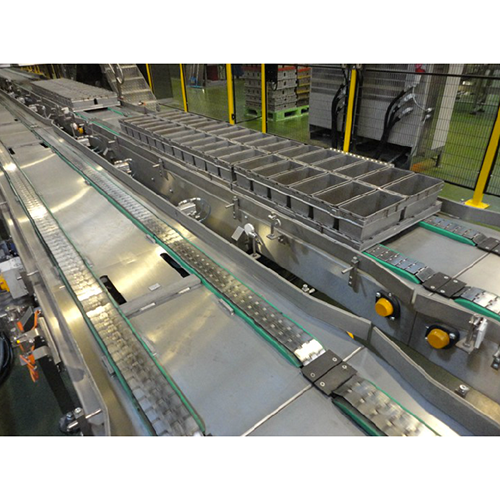 Tin and lid conveyor system