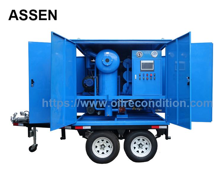 Trailer mounted high vacuum transformer oil treatment plant,transformer oil dehydration unit