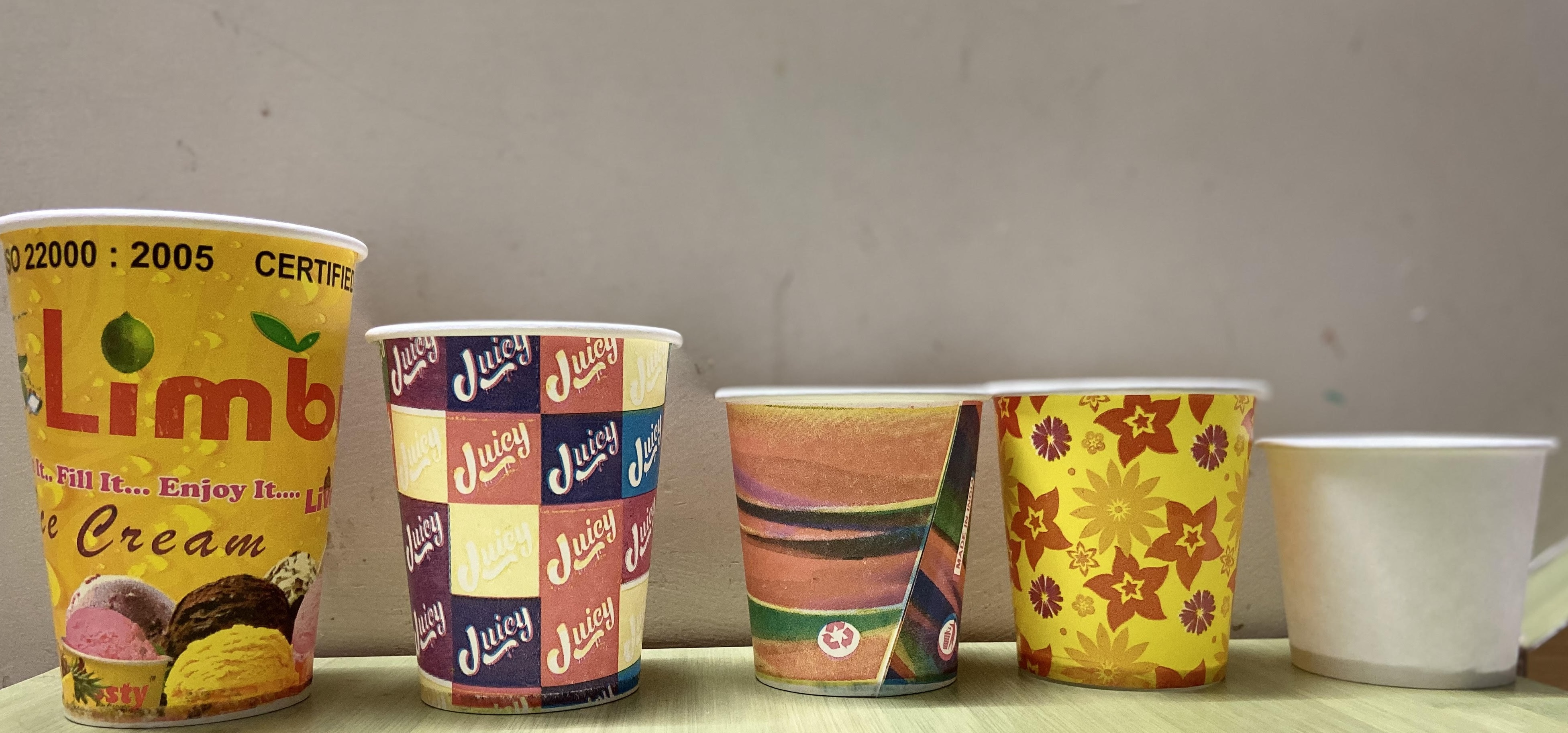 Paper cup paper containers