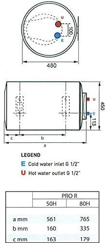 Ariston electric water heater 50 litter horizontal pro 1r italy