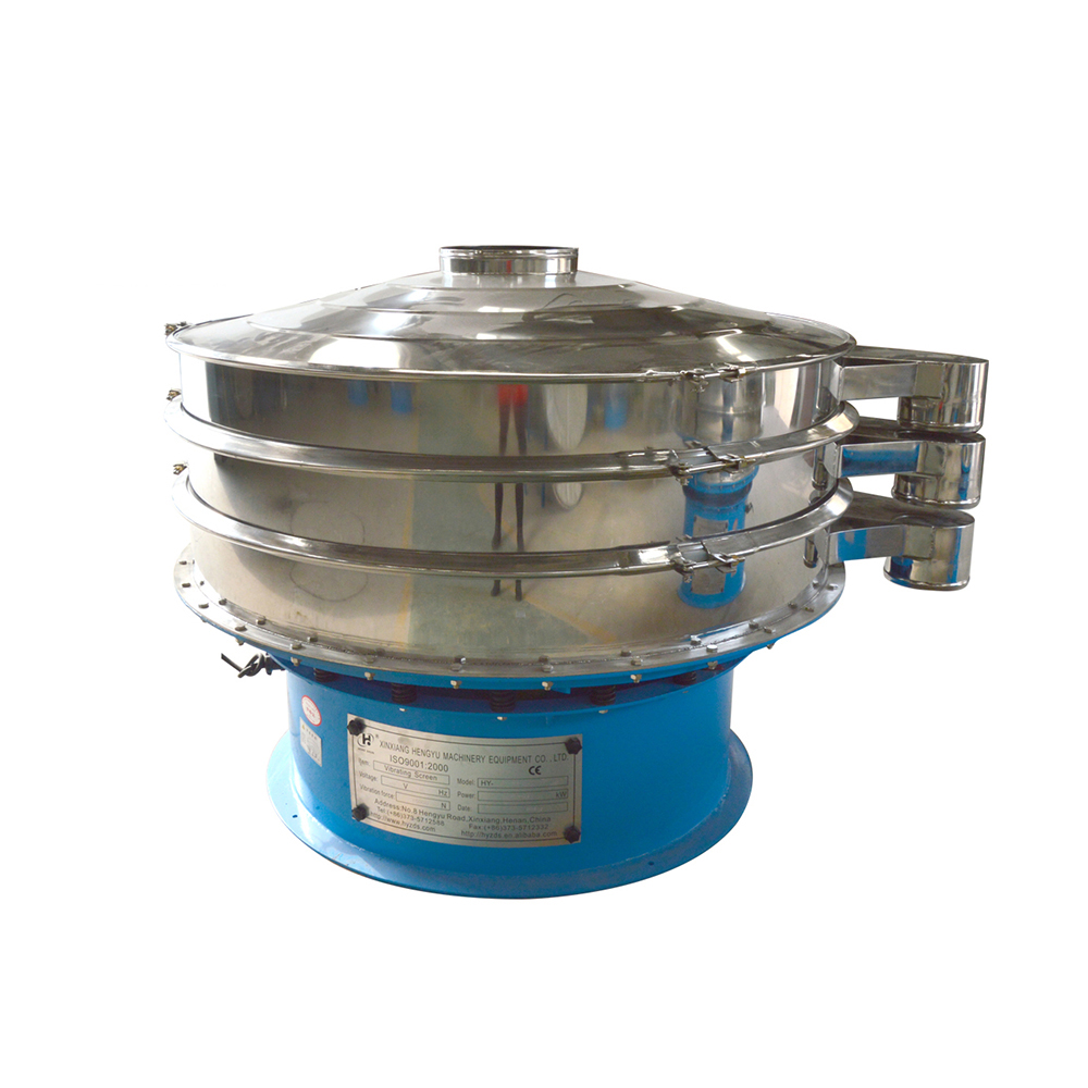 Rotary vibrating screen sieve for animal feed/fishmeal