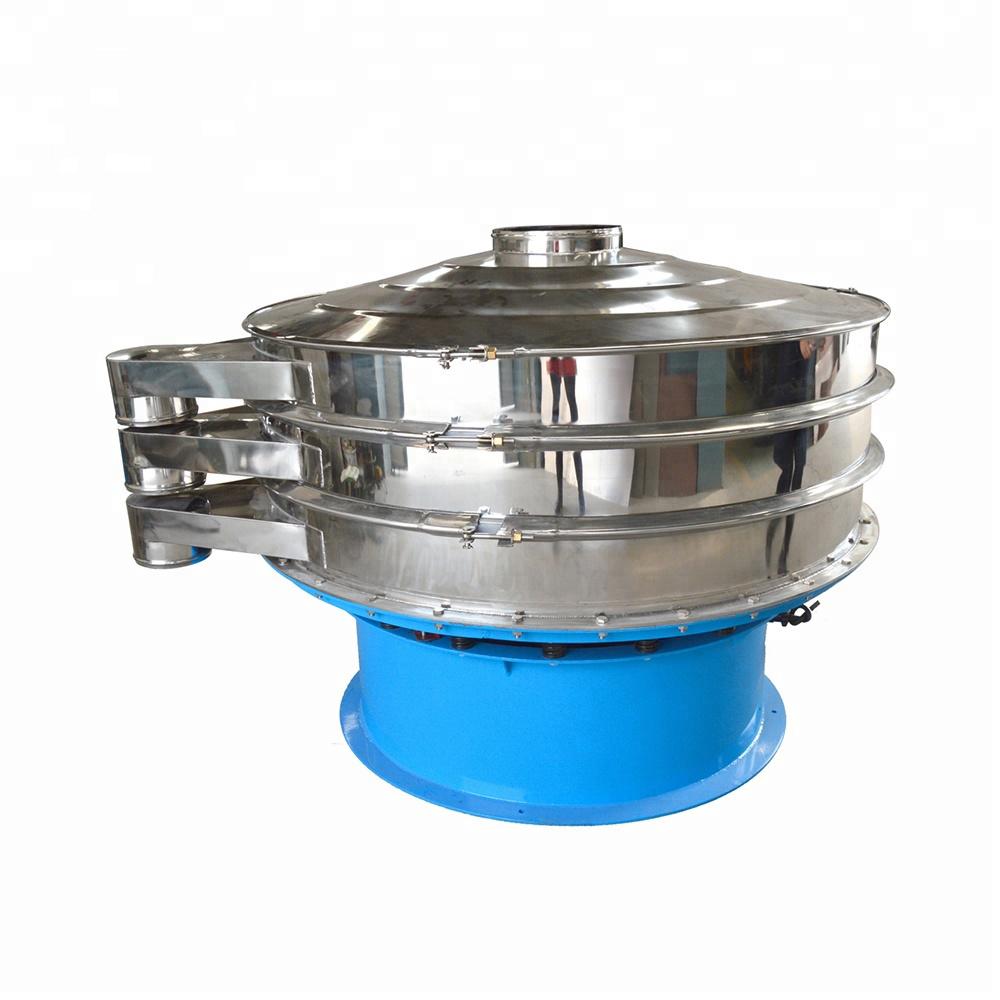Double deck vibrating screen filter for salt powder/granules