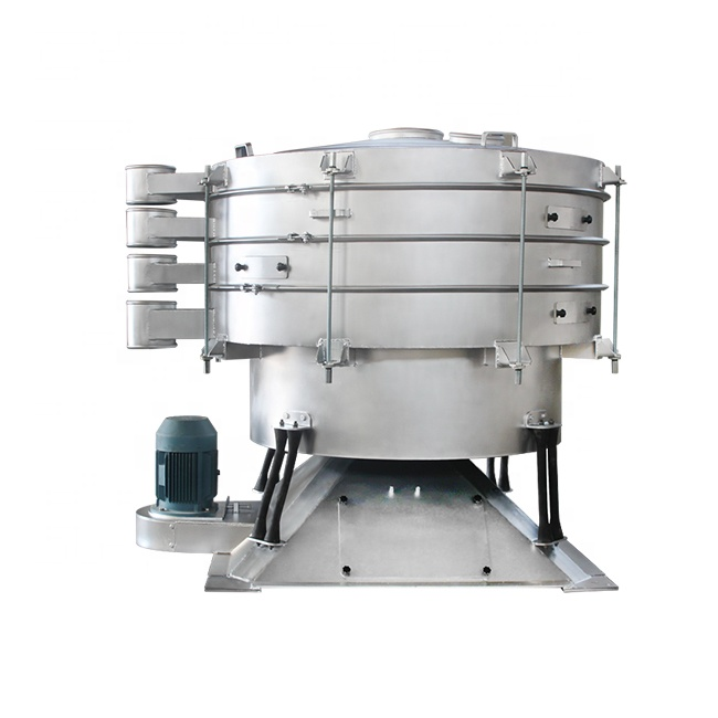 Automatic sieving remove impurities and powder grading tumbler screen