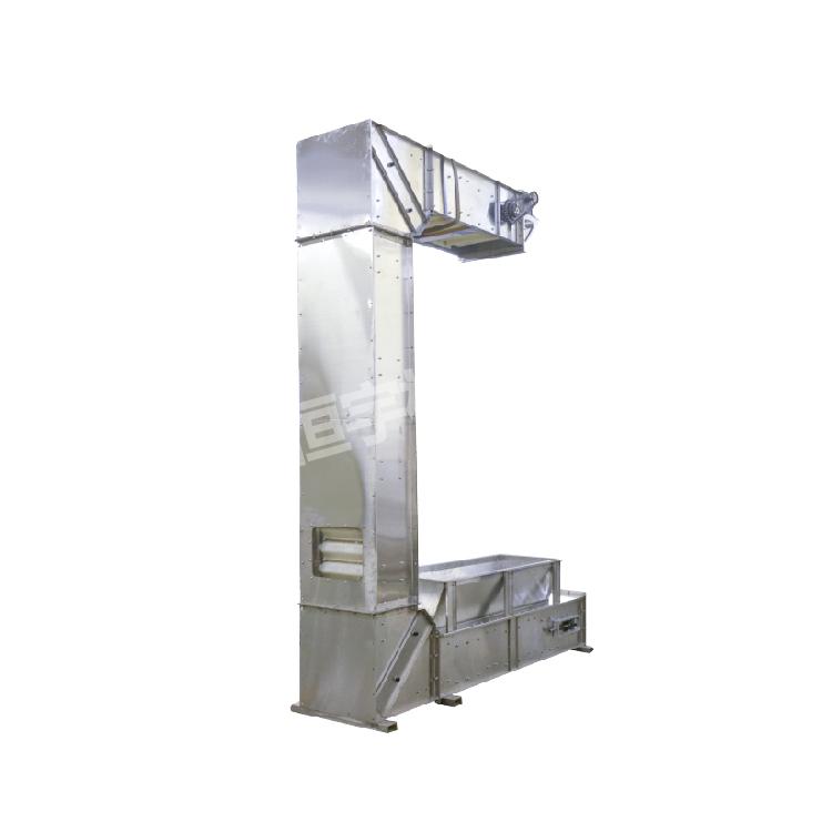 Food grade stainless steel rice c type elevator conveyor_3