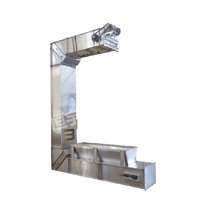 Food grade stainless steel rice c type elevator conveyor_2