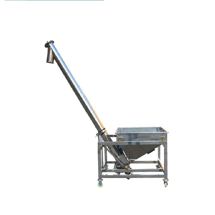 Screw conveyor feeder elevator machine_2