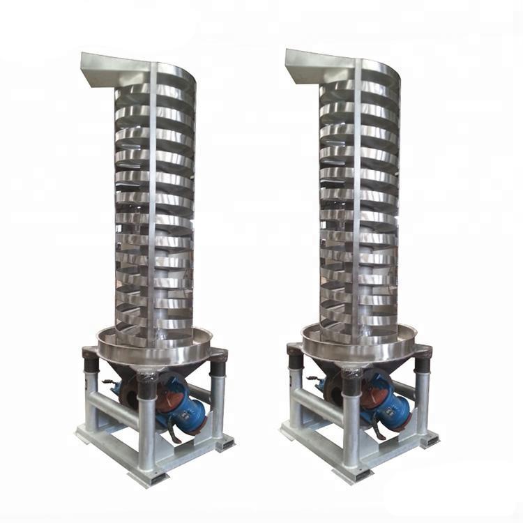 Spiral Screw Conveyor,Logistics Industry Spiral Vertical Lifter_2