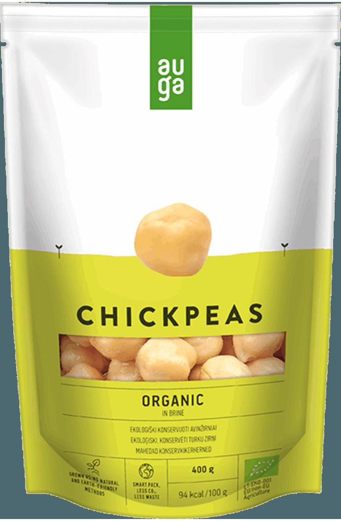Auga organic chickpeas in brine