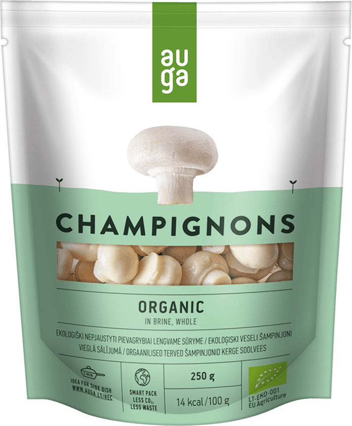 Auga organic champignon whole in brine