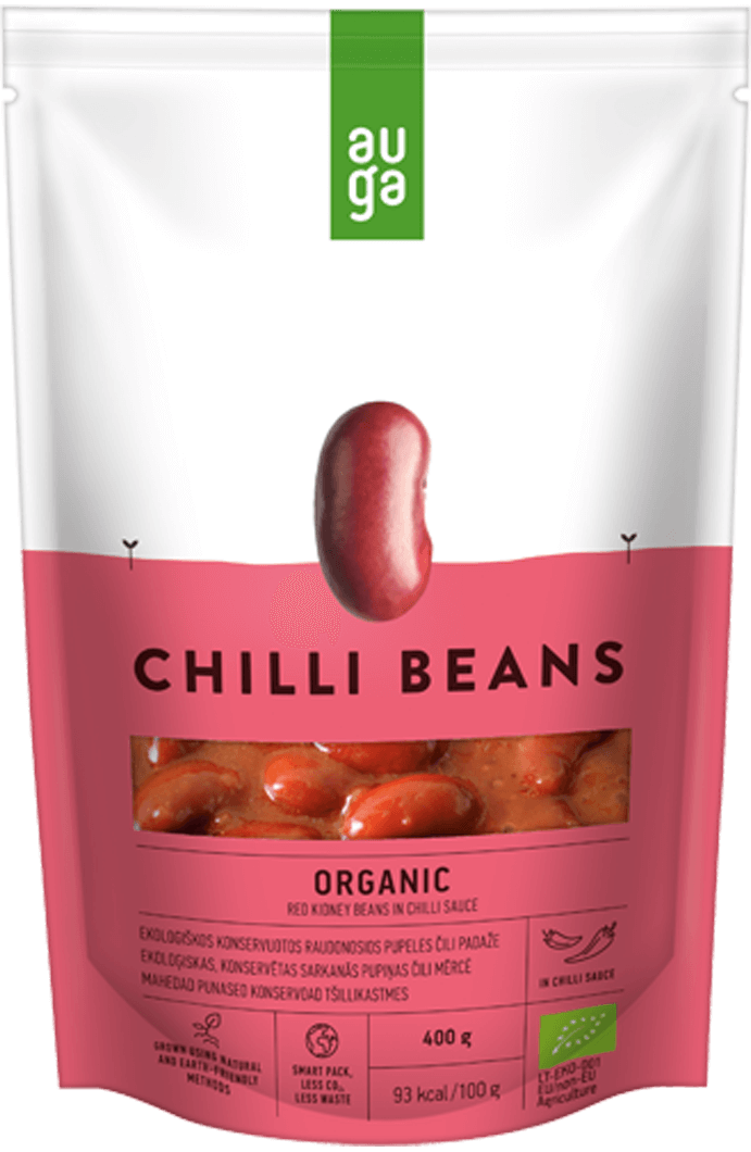 Auga organic red beans in spicy sauce