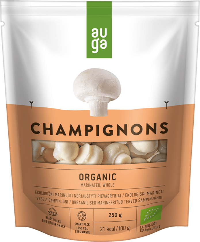 Auga organic champignons whole marinated